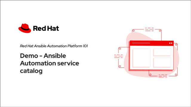 Demo – Ansible Automation service catalog