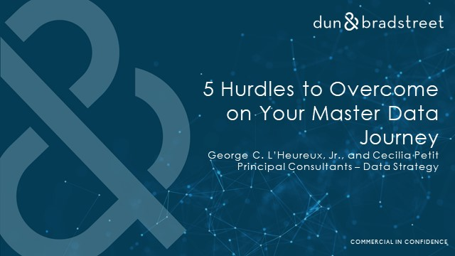 5 Hurdles to Overcome on your Master Data Journey
