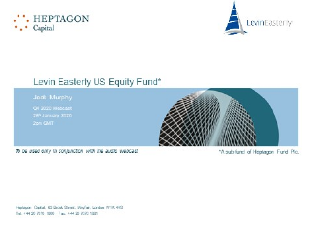 Levin Easterly US Equity Fund Q4 2020 Webcast