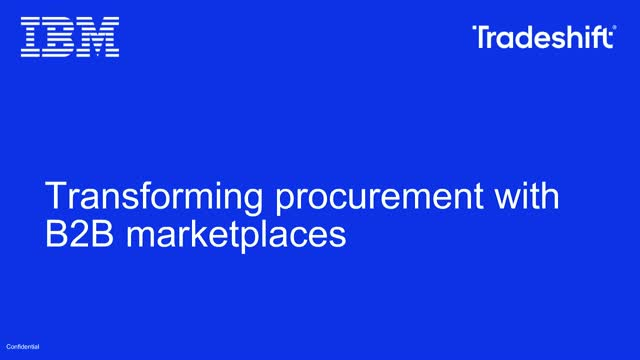 Transforming Procurement with B2B Marketplaces