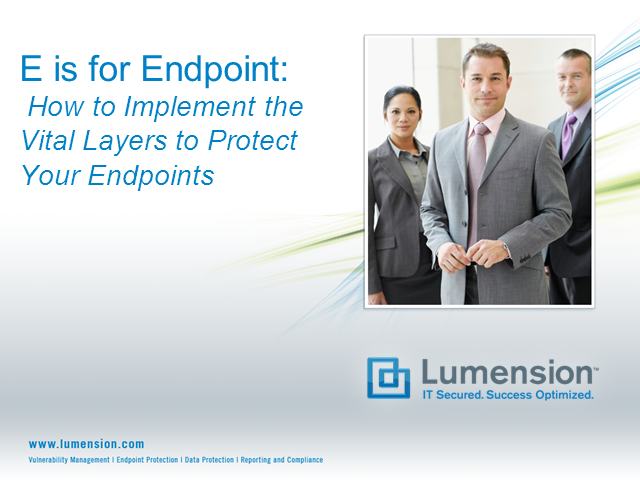 E is for Endpoint II: How to Implement the Vital Layers on Your Endpoints