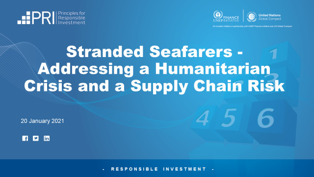 Stranded Seafarers - Addressing a Humanitarian Crisis and a Supply Chain Risk