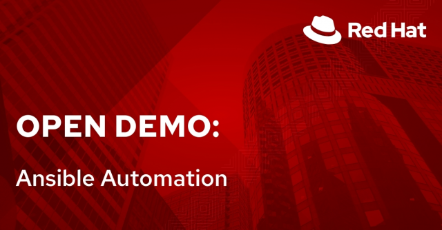 Open Demo: Ansible Automation (12/7)