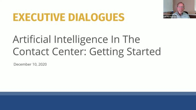 Executive Dialogues: Getting Started with AI in the Contact Center