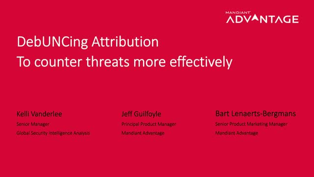 DebUNCing Attribution to Counter Threats More Effectively