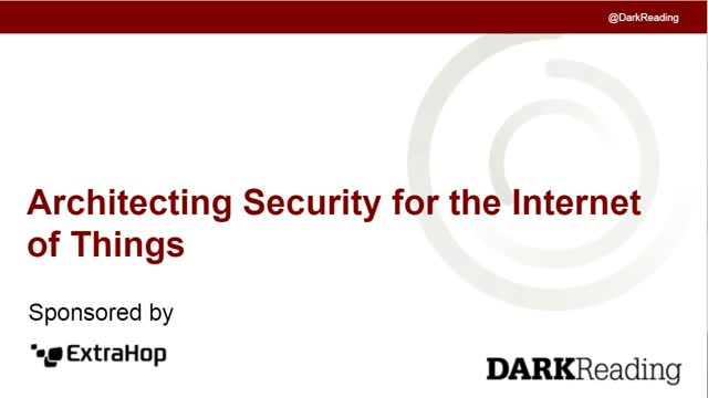 Architecting Security for the Internet of Things