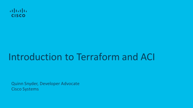 Introduction to Terraform and ACI