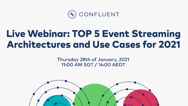 Top 5 Event Streaming Architectures and Use Cases for 2021