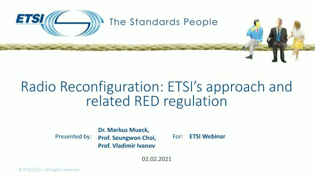 Radio Reconfiguration: ETSI's new approach and related RED regulation