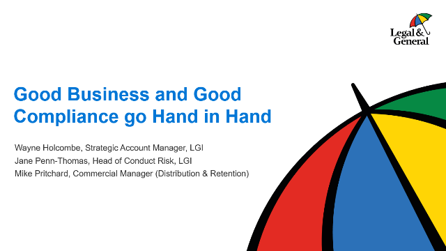Compliance Directors Session - Good Business and Good Compliance go Hand in Hand