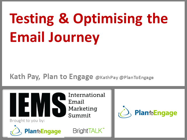 Testing & Optimising the Email Journey