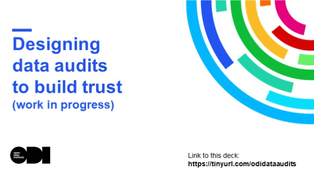 Designing Data Audits to Build Trust