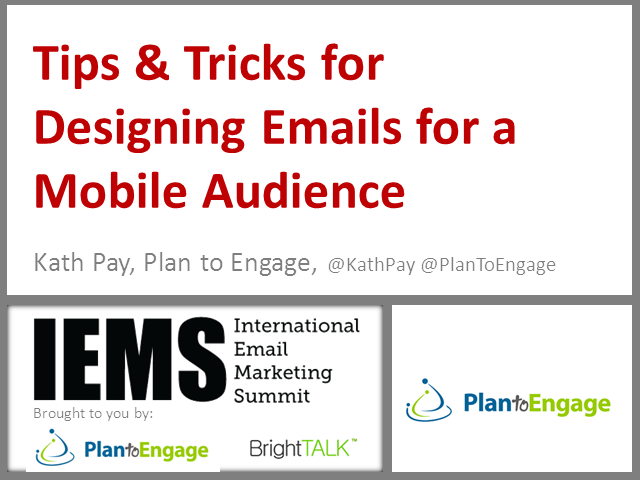 Tips & Tricks for Designing Emails for a Mobile Audience