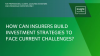 How can insurers build investment strategies to face current challenges?