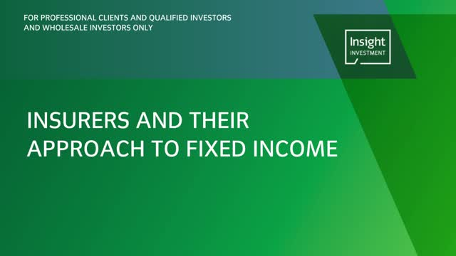 Insurers and their approach to fixed income