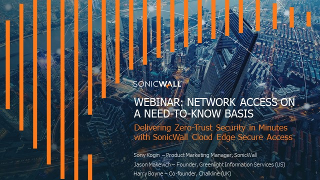 Network Access on a Need-To-Know Basis