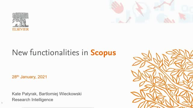 New functionalities in Scopus