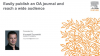 Easily publish an OA journal and reach a wide audience