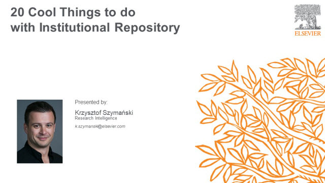 20 Cool Things to do with Institutional Repository