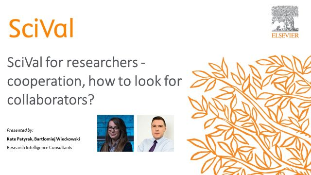 SciVal for researchers - cooperation, how to look for collaborators?