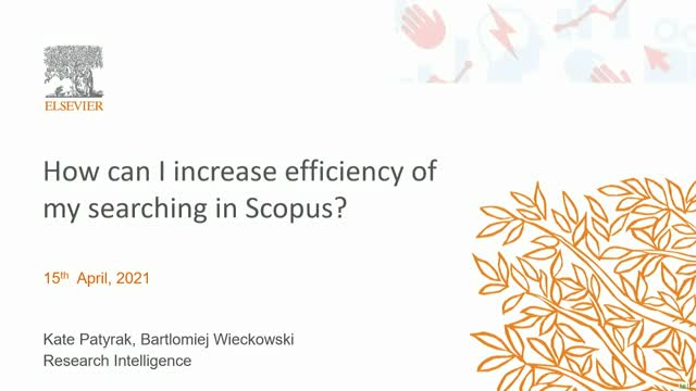 How can I increase efficiency of my searching in Scopus?