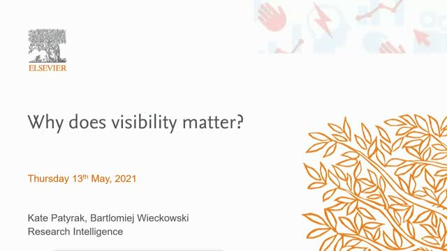 Why does visibility matter?