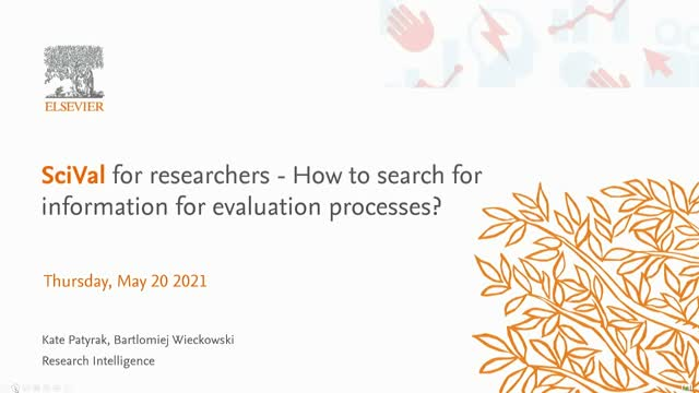 SciVal for researchers - direction of evaluation, how to search for information