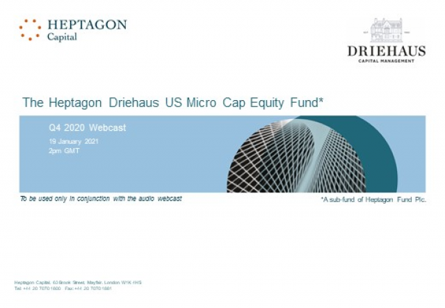 Driehaus US Micro Cap Equity Fund Q4 2020 Webcast
