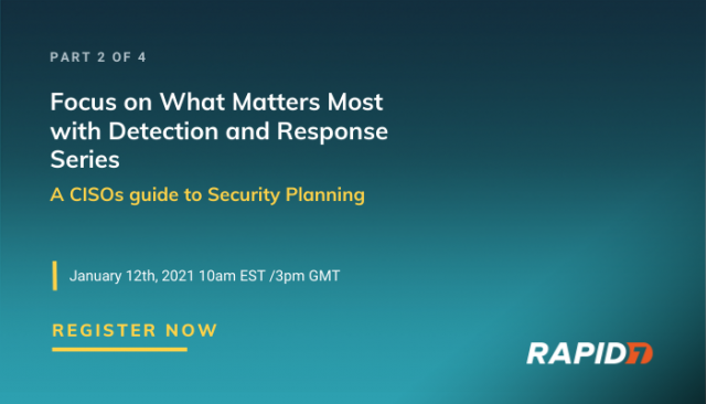 [APAC] Series: A CISOs guide to Security Planning