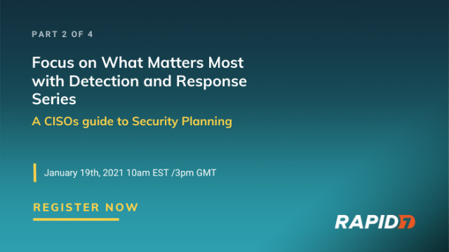 Series: A CISOs guide to Security Planning