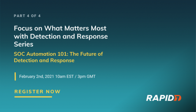 Series: SOC Automation 101: The Future of Detection and Response