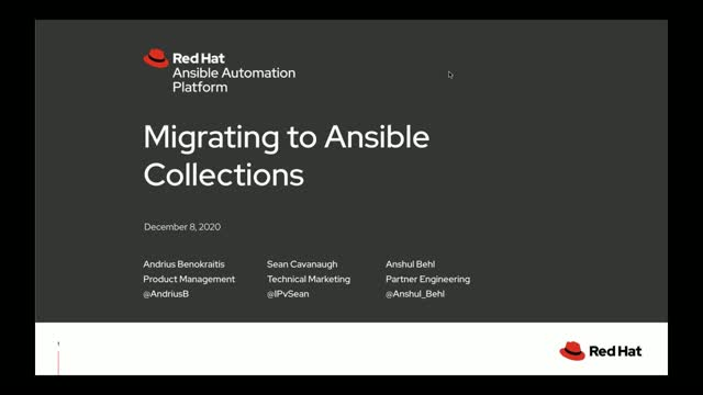 Migrating to Ansible Collections