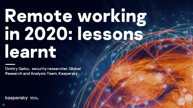 Remote working in 2020: lessons learnt