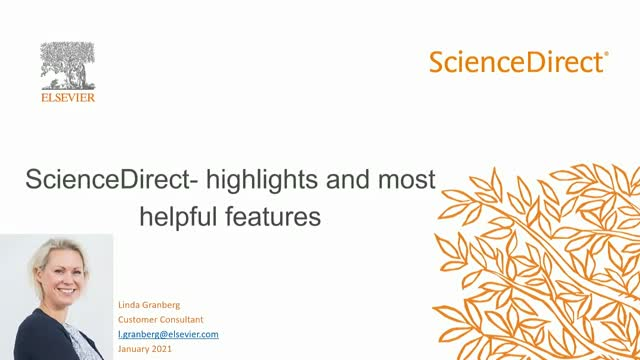 Introduction to ScienceDirect- highlights and most helpful features