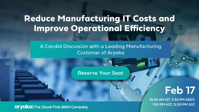 Reduce Manufacturing IT Costs and Improve Operational Efficiency