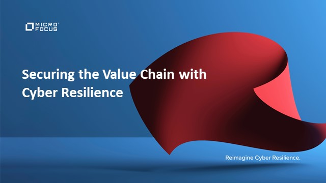 Securing the Value Chain with Cyber Resilience