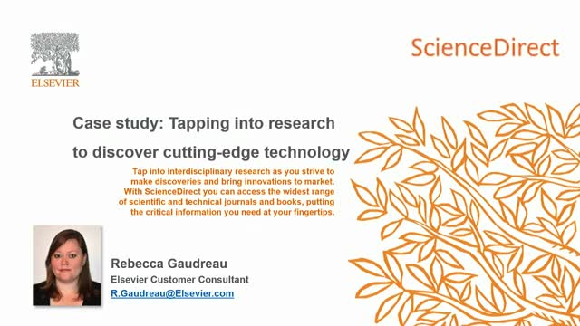 Case study: Tapping into research to discover cutting-edge technology