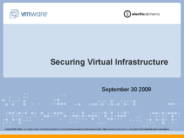 Securing Virtual Infrastructure