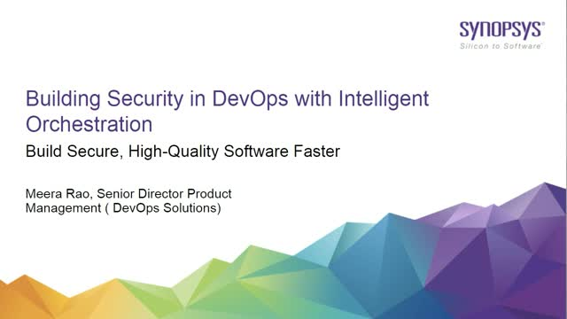 Building Security in DevOps with Intelligent Orchestration