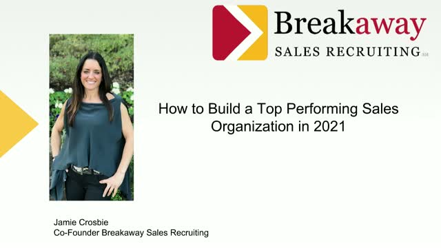 How to Build a Top Performing Sales Organization in 2021