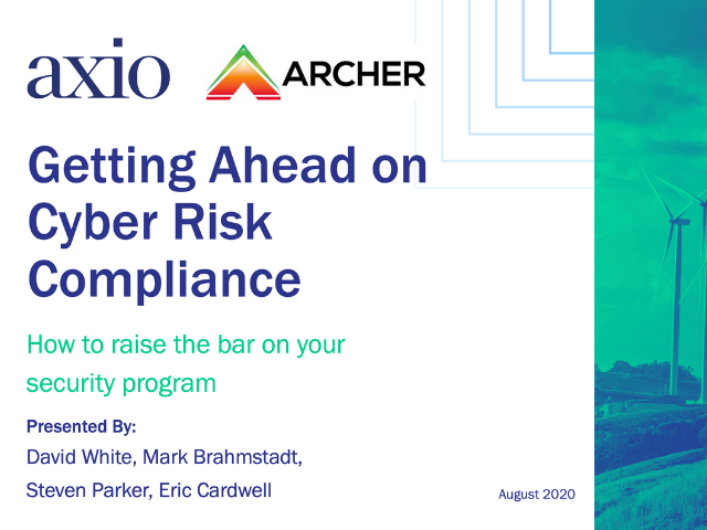 Getting Ahead on Cyber Risk Compliance