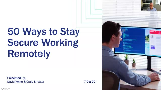 50 Ways to Stay Secure Working Remotely
