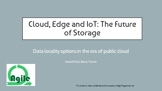 Data locality options in the era of public Cloud