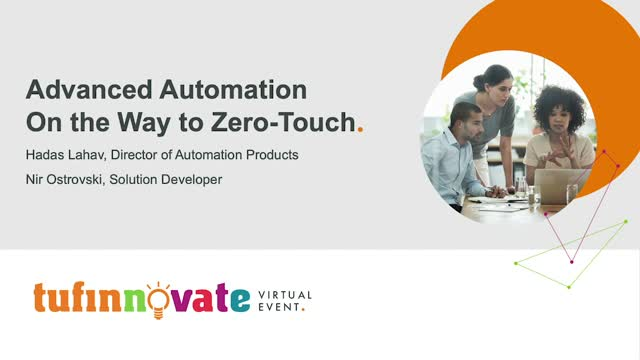 Advanced Automation on the Way to Zero Touch