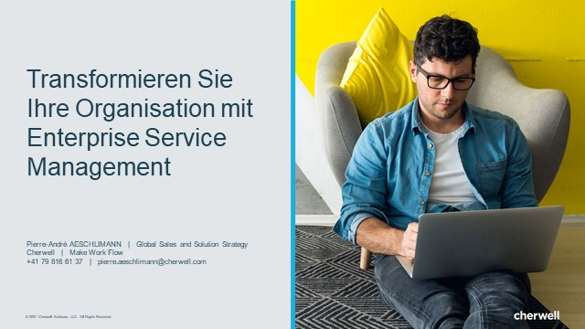 Transformieren Sie Ihre Organisation mit ESM (In German)
