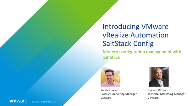 Introducing vRealize Automation SaltStack Config