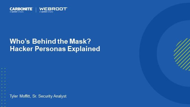 Who's Behind the Mask? Hacker Personas Explained