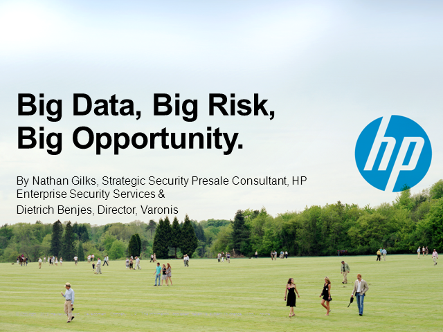 Big Data, Big Risk, Big Opportunity