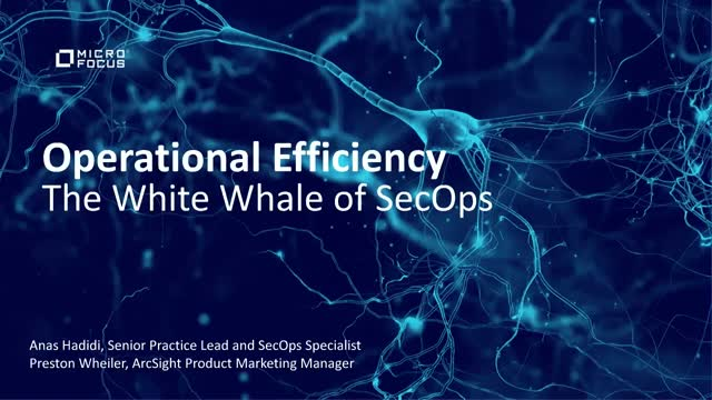 Operational Efficiency: The White Whale of Security Operations