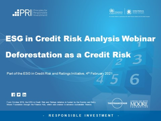 Deforestation as a Credit Risk